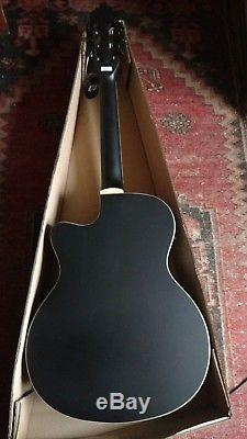 New nylon string classical Electro Acoustic Guitar with tuner black