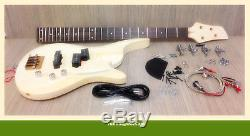 No-Solder Electric Bass Guitar DIY EB-325 Maple Neck, Free Digital Tuner, Picks