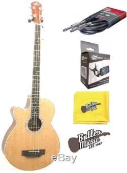 Oscar Schmidt Model OB100NLH LeftY A/E Bass withBag, Effin Tuner + More