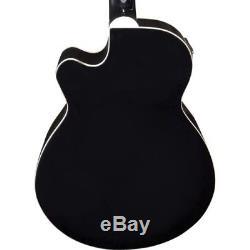 Oscar Schmidt OB100B Acoustic-Electric Bass with Gig Bag, Effin Tuner + More