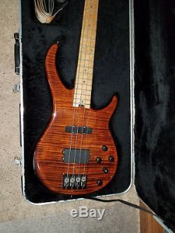 Peavey Millennium USA PLUS 4 Bass Guitar Drop D Hipshot Tuners & Bridge EX COND