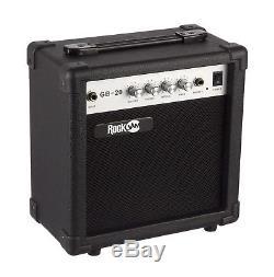 RockJam Full Size Bass Guitar Super Kit Amp Tuner Stand Travel Bag Accessorie