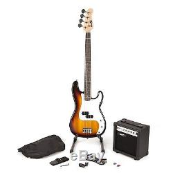 RockJam Full Size Bass Guitar Super Kit with Amp, Tuner, Stand, Travel Bag