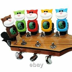 SWIFF Guitar Tuner Clip-On LCD Display All String Instruments Bass, Accessories