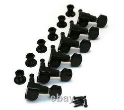 Schaller Black 6 Inline M6 Mini Sealed Tuners Strat/Tele Guitar TK-0960-003