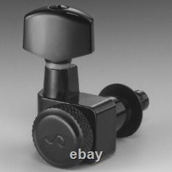Schaller Germany F-Series Locking Tuners, 2-Pin Fender 6 Inline Black Chrome