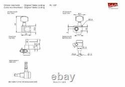 Schaller Germany F-Series Locking Tuners, 2-Pin Fender Mount, 6 Inline Chrome