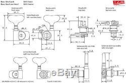 Schaller M4S LIGHT 4 Inline Black Bass Tuners Machine Heads TK-0990-003