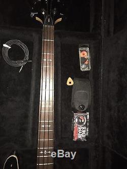Schecter Omen 4 With Case, strap, strap Locks, snark Tuner, Cord, 12 Pack Of Picks