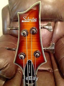 Schecter Omen Extreme 4 With Snark Tuner Fender Strap Stageline Stand