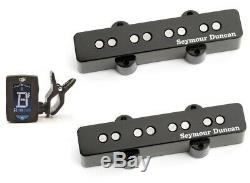 Seymour Duncan SJB-1b & SJB-1n Vintage Jazz Bass Set Black (GUITAR TUNER) SJB 1