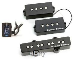 Seymour Duncan SPB-1 & SJB-1 Vintage PJ Precision P Jazz Bass Set (GUITAR TUNER)
