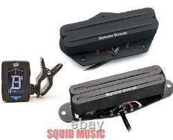 Seymour Duncan STHR-1 Hot Rails Set For Telecaster Fits Tele (FREE GUITAR TUNER)
