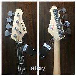 Skwill 3/4 Size 4-String Electric Bass Guitar, Sunburst +Padded Bag. YF-JBMINI/SB