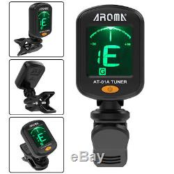 Small Digital Chromatic LCD Clip-On Electric Tuner F Bass Guitar Ukulele Violin