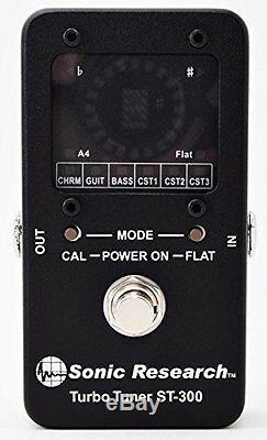 Sonic Research Stompbox Strobe Tuner Music Installment Guitar Bass ST-300 F/S