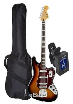 Squier (030-5600-500) Vintage Modified Bass VI 3TS Bass Bundle withBag&Tuner
