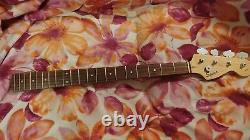 Squier / Fender Precision Bass Guitar Neck Rosewood Fretboard P-Bass + Tuners