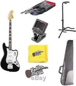 Squier by Fender 4 String VM Bass VI Electric Bass Guitar withGigbag, Tuner + More