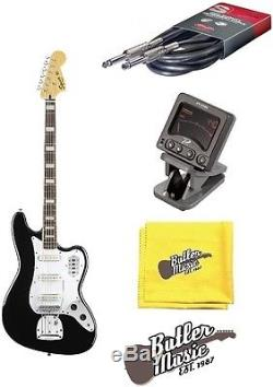 Squier by Fender 4 String VM Bass VI Electric Bass Guitar withTuner + More