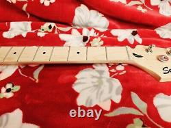 Squier by Fender Bronco Bass Short Scale Guitar Neck Maple Fretboard + Tuners