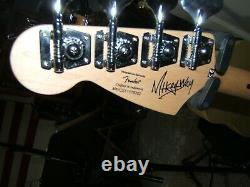 Squire Mikey Way Fender Mustang Bass great shape withcase and specials