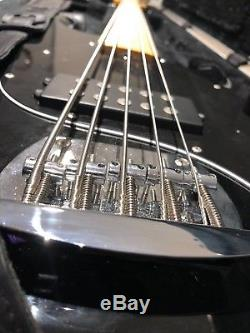 Sterling SUB Ray5 Bass 5 String Black Walnut with SKB case, string, strap, & tuner