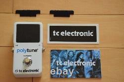 TC ELECTRIC polytune 2 Polyphonic & Chromatic Guitar & Bass Tuner NEW