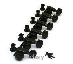 TK-0974-003 Schaller Black Locking 6 Inline Tuners for Strat/Tele