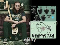 Tech 21 Geddy Lee Signature SansAmp YYZ Bass Guitar Effect Pedal (DUNLOP TUNER)