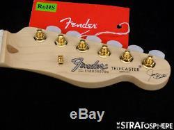 USA Fender JAMES BURTON Telecaster Tele NECK & TUNERS Maple Satin'60s U