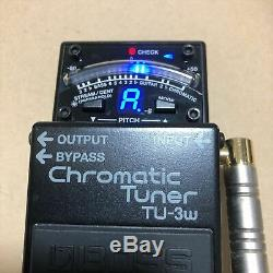 Used TU-3W BOSS WAZA CRAFT Chromatic Pedal Tuner with Box Manual for Guitar Bass