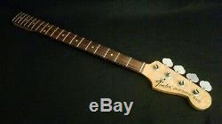 VINTAGE 1975 FENDER PRECISION BASS NECK with TUNERS & PLATE FULLERTON ROSEWOOD