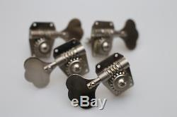 VINTAGE USA RICKENBACKER 4001 BASS GUITAR FOUR NICKLE TUNERS COMPLETE SET of 4