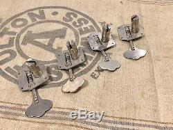 Vintage 1950's Fender Precision Bass Guitar Tuners 1952-1957 Nickel Complete Set