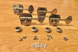Vintage 1960's Fender Precision Jazz Bass Guitar Tuners Circa 1962 Reverse Wound