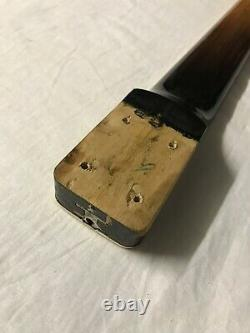 Vintage 1960s Hagstrom Concord Bass Neck Sweden Black Ebony Rare No Tuners