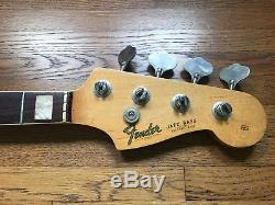 Vintage 1966 Fender Jazz Bass Guitar Neck & Tuners Original J Part 60s