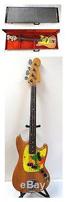 Vintage 1966 USA Fender Mustang Bass OHSC Lolipop Tuners Orig Parts No Reserve