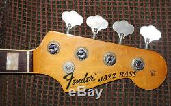 Vintage 1968 Fender Jazz Bass Guitar Neck with 1964 Pre CBS Reverse Tuners! Nice