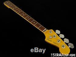 Vintage 65 RI Fender JAZZ BASS NECK + TUNERS 1965 J Bass Guitar BOUND Rosewood