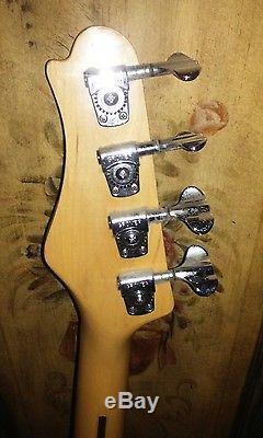Vintage Aria Mach 1 Thunder Series P-Bass Guitar Grover tuners