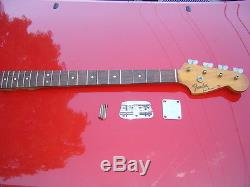 Vintage Early 1970`s FENDER Music Master Bass Guitar NECK & TUNERS & F PLATE