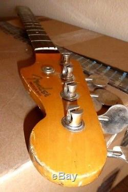 Vintage FENDER PRECISION BASS ROSEWOOD NECK & TUNERS MIJ K SERIAL 1962 REISSUE
