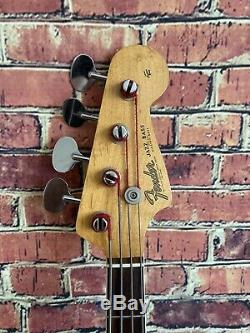 Vintage Fender Jazz Bass Sunburst Rare Lollipop Tuners Entered Special 1966