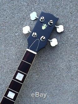 Vintage-Japanese-Open Book-Headstock-4 String-Bass-Guitar-Neck-MIJ-Japan &Tuners