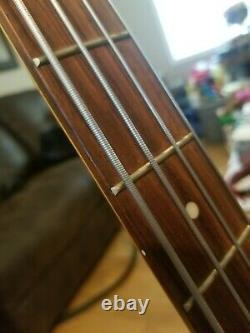 Vintage Samick Precision Bass Guitar, Dark Green, Dimarzio pickups, Grover Tuners
