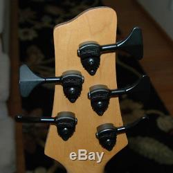 Vintage Vester 5 string bass narrow spacing, long scale! And Hipshot tuners