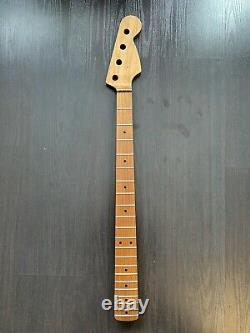 Warmoth Precision Bass Neck- Roasted Maple- TUNERS NOT INCLUDED