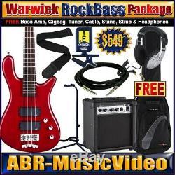 Warwick RockBass Streamer Guitar Package/ Bass Amp, Headphones, Tuner, Stand